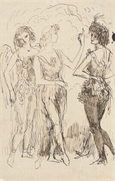 Study of three female figures