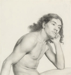 A male nude in repose