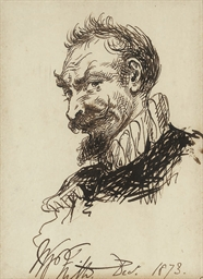 Study of a man wearing a ruff