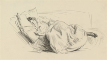 Study of a woman reading