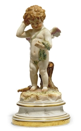 A MEISSEN FIGURE OF CUPID