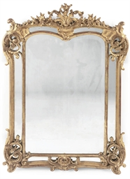 A FRENCH GILTWOOD MARGINAL MIR
