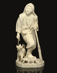 An Ivory Okimono, Signed Tsune