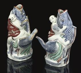A Pair of Imari Vases, late 17