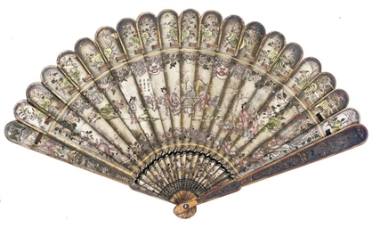 A LACQUERED BRISE FAN