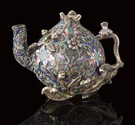 A CHAMPLEVE ENAMEL AND COPPER