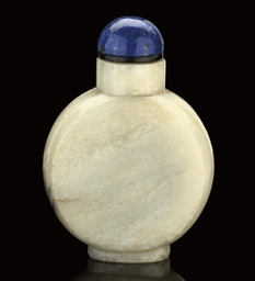 A GREYISH JADE SNUFF BOTTLE, 1