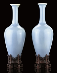 A PAIR OF 'CLAIR-DE-LUNE' GLAZ