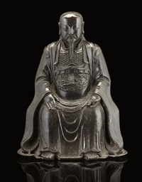 A bronze model of Zhenwu, 17th