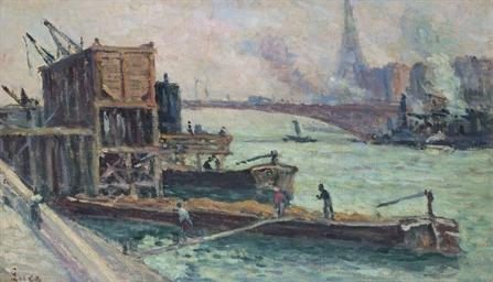 Chalands sur la Seine par Temp