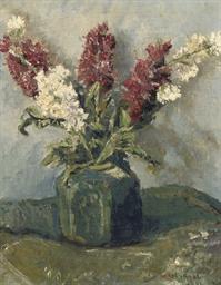 Hyacinths in a vase