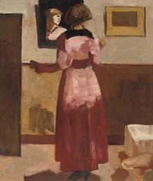 Vrouw voor de spiegel - Woman