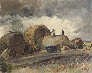 Haying farmers