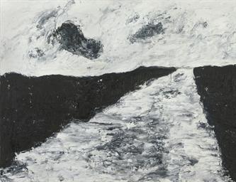 Schwarze Landschaft