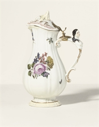 A MEISSEN GILT-METAL MOUNTED E