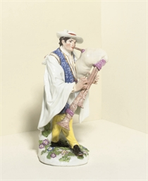 A MEISSEN FIGURE OF A PIEDMONT