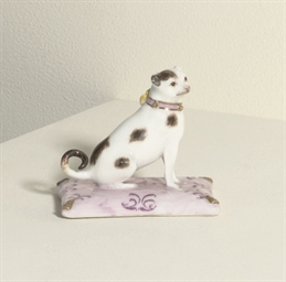 A MEISSEN MODEL OF A PUG-DOG