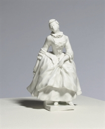 A VIENNA WHITE FIGURE OF COLUM