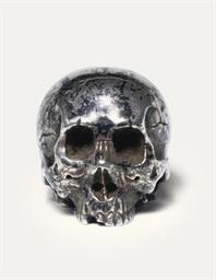 A silver okimono [sculptural o