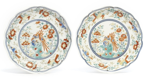 A pair of Kakiemon Dishes