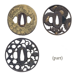 A group of twenty tsuba