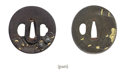 A group of nineteen tsuba