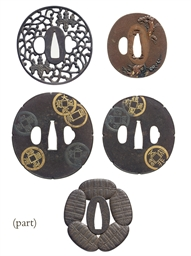 A group of twenty-nine tsuba
