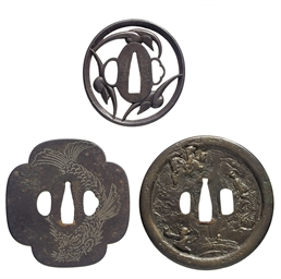 A group of seven tsuba
