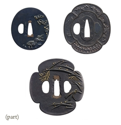 A group of twenty-five tsuba