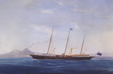 The steam yacht Ciralda off Na