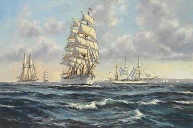 Off Bermuda; Tall ships race,