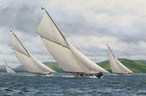 Britannia, Lulworth, Cambria and Candida on the Clyde