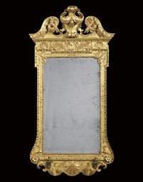 A GEORGE II GILTWOOD AND GILT-