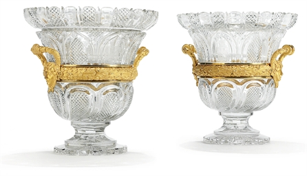 TWO REGENCY ORMOLU-MOUNTED CUT