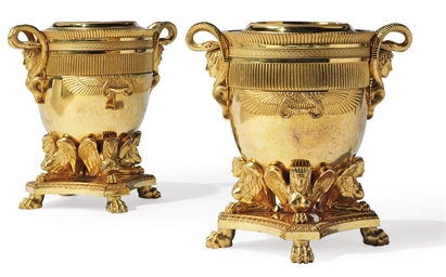 A PAIR OF REGENCY GILT-BRONZE