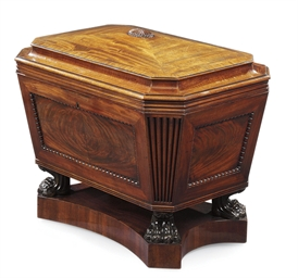 A REGENCY MAHOGANY CELLARET