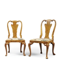 A PAIR OF GEORGE I SOLID WALNU