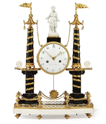 AN UNUSUAL LOUIS XVI BLACK AND