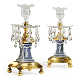 A PAIR OF GEORGE III ORMOLU-MO