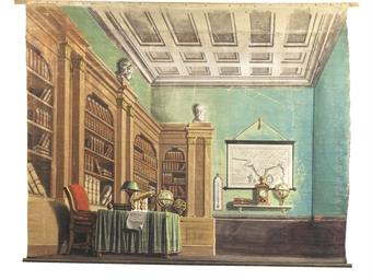 A VIEW OF A GENTLEMAN'S STUDY
