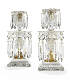 A PAIR OF REGENCY ORMOLU CUT-G