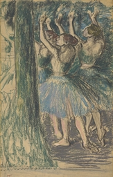 Groupe de danseuses (décor d'a