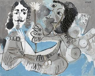 Mousquetaire et femme à la fle