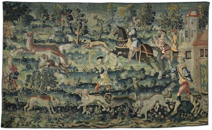 A FRENCH HUNTING TAPESTRY