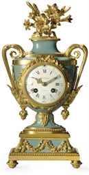 A LOUIS XVI ORMOLU AND BLUE-PA