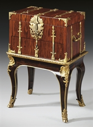 A LOUIS XIV ORMOLU-MOUNTED KIN