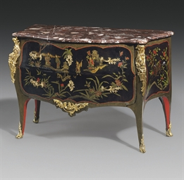 A LOUIS XV ORMOLU-MOUNTED BLAC