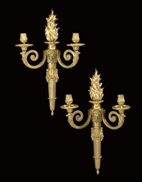 A PAIR OF LOUIS XVI ORMOLU TWO