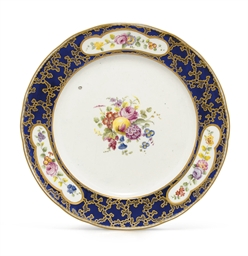 A SEVRES LATER-DECORATED BEAU