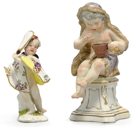 TWO MEISSEN FIGURES OF PUTTI